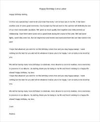 birthday love letters sample love letter 8 examples in pdf word