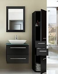 modern bathroom cabinets. 24 Inch Carina Single Vessel Sink Wall Mounted Modern Bathroom Vanity Cabinet With Glass Top Model Cabinets T