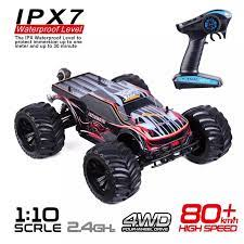 4WD 4x4 Off Road Truck 1:10 Remote Control Car High Speed RC Trucks Radio  Control Brushless Electric Racing RC Cars IPX7|RC Cars
