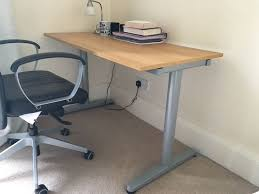 Exellent Adjustable Height Desk Ikea Galant Heightadjustable Inside Decorating Ideas