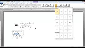 microsoft word equation editor