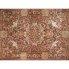 mooresville hand look persian wool red ivory brown area rug by astoria grand astoria