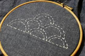 Sashiko Patterns Custom Simple Sashiko Stitching Introduction And Cloud Pattern For Beginners