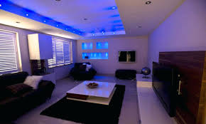 False Ceiling Led Lights Design Lighting Ideas Living Room Blue