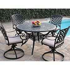 Amazon Outdoor Cast Aluminum Patio Furniture 9 Piece Dining