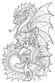 Realistic Dragon Coloring Pages At Getdrawingscom Free For