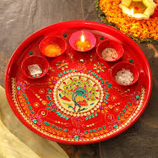 Image result for pooja thali