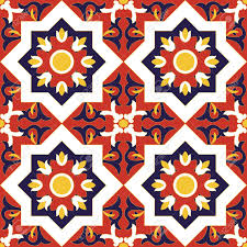 Pattern In Spanish Gorgeous Spanish Tile Pattern Vector Seamless With Flowers Motifs Royalty