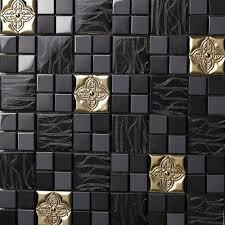 glass mix metal mosaic tile patterns