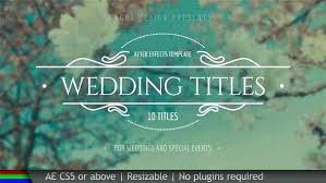 Wedding Title Template Wedding Titles After Effects Templates Title Video Free