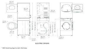 Metric Washer Sizes Chart Washer And Dryer Sizes Chart Front Load Washer Dimensions