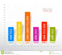 Infographic Flat Design Column Graph Chart Template Stock
