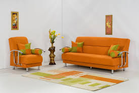 Orange Living Room Chairs Orange Living Room Design Home Design Ideas