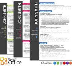 Resume Microsoft Office Resume Templates Free Best Inspiration