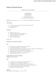 resume sample for restaurant server restaurant resume skills viragoemotion com