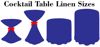 what size linen for highboy tail tables