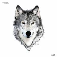 Hxman волк временная татуировка наклейки животные татуировки для женщин модные