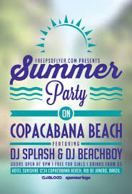 Create Free Party Flyers Online Download Easy To Use Free Summer Flyer Templates For Photoshop