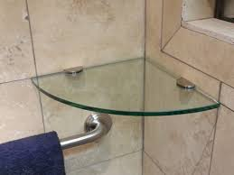 Bathroom Glass Corner Shelves Shower Impressive Attractive Shower Corner Shelf 32 Glass Shelves Tempered Install