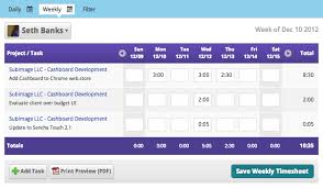 Weekly Time Sheets Multiple Employees Employee Timesheet Software Cashboard