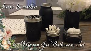 Mason Jar Bathroom Accessories Mason Jar Bathroom Set How To Make Chicken Wire Youtube