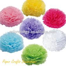 Tissue Paper Pom Poms Flower Balls Wholesale Round Handmade Tissue Paper Pom Pom Flower Balls For Wedding Party Decor Buy Tissue Paper Pompoms Round Diy Paper Pompoms Wedding Party