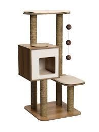 modern cat tree furniture. vepser vhigh base walnut cat furniture tree modern
