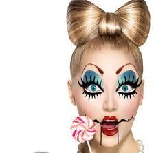 image is loading creepy broken doll eyes mask lips costume
