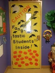 Caution - Fangtastic Students Inside Door Decoration  Halloween Classroom  ...