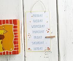 Week Days Chart Weekdays Educational Chart Printable Elementary Educational