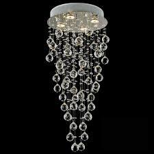 trendy raindrop chandelier lighting 1 0001527 30 raindrops modern foyer crystal round mirror stainless steel base 4 lights