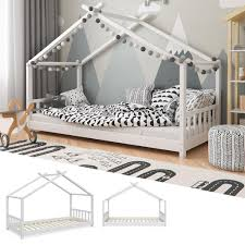 Vitalispa Kinderbett Hausbett Design 90x200cm Kinder Real