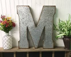 Metal Initials Wall Hanging Alluring Metal Initial Wall Decor Extraordinary  Single Vine Monogram . Decorating Inspiration
