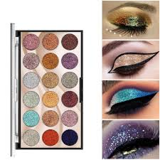 <b>18 Color Glitter</b> Eyeshadow Palette Diamond <b>Sequins</b> Shiny Eye ...