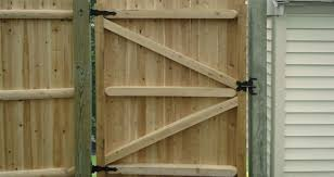 engaging wood fence gate hardware for