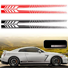 Exterior Car Body Design Sports Racing Stripe Graphic Stickers Truck Auto Car Body Side Door Vinyl Decals