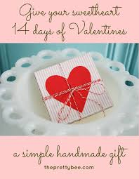 Pretty in pink valentine's day card for mom and dad featuring hearts and a doodled white heart on a hot pink striped background. 25 Lovely Diy Valentine S Day Cards And Gifts Cute Diy Projects