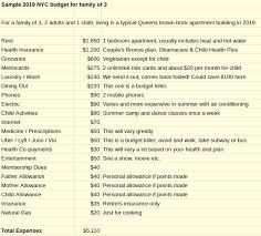 sle nyc family budget
