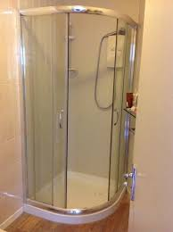 corner shower screen and tray