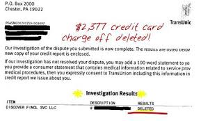 Credit Card Charge f Deleted