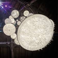 modern italian designer crystal chandelier