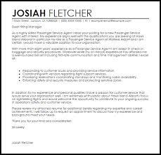 Passenger Service Agent Cover Letter Sample
