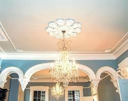 ceiling medallions to enlarge final installation of custom made ceiling medallion and molding does