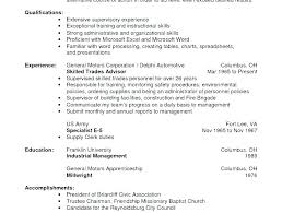 Warehouse Resume Samples Example Job Sample Download Entry Level