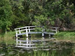 countryside citrus walking bridge on property