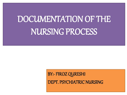 Documentation Of The Nursing Process