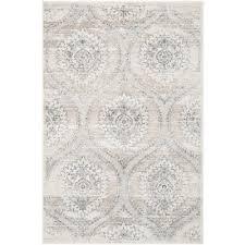 carnegie light gray cream 4 ft x 6 ft area rug