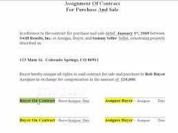 How To Wholesale - Filling Out An Assignment Of Contract Form Real ...