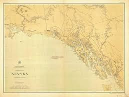 Southeast Alaska Nautical Charts Amazon Com Vintography 18 X 24 Canvas 1898 Us Old Nautical