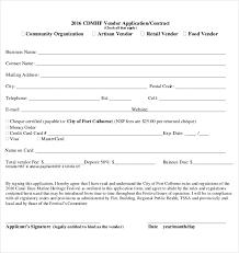 10 Vendor Application Templates Free Sample Example Format